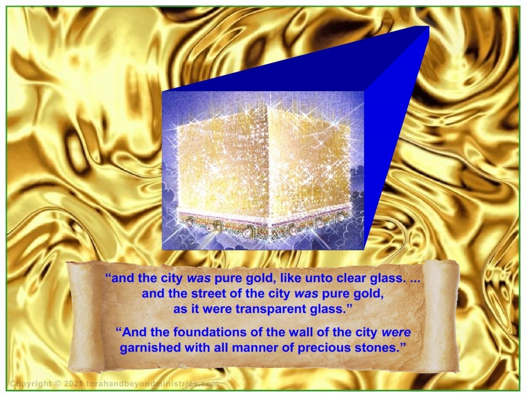 The city made of gold the New Jerusalem