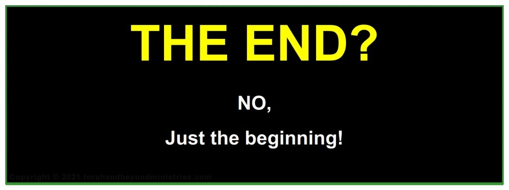 The end? No, just the beginning
