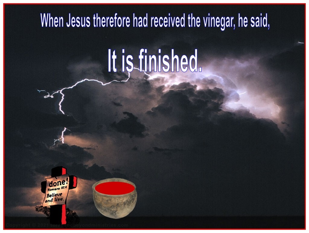 When Jesus received the fruit of the vine, the Lamb gave His life for us.