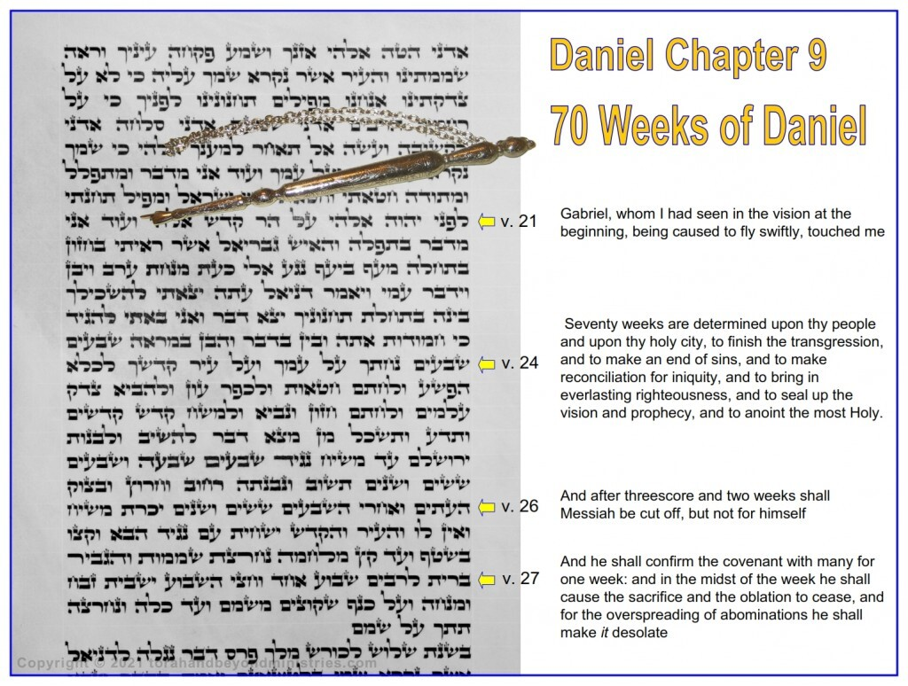 This is a very rare Hebrew Scroll of Daniel showing Daniel chapter 9 the 70 weeks of Daniel