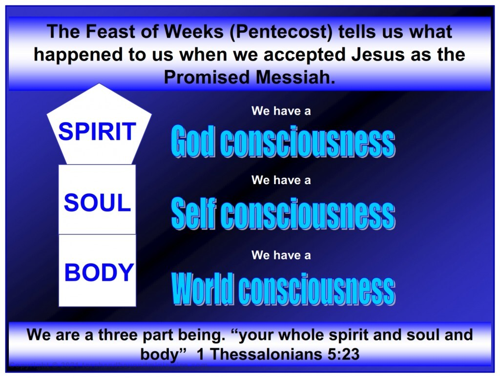 """A """"born again"""" person is a three part beings. We have a God Consciousness, a self consciousness and a world consciousness."""