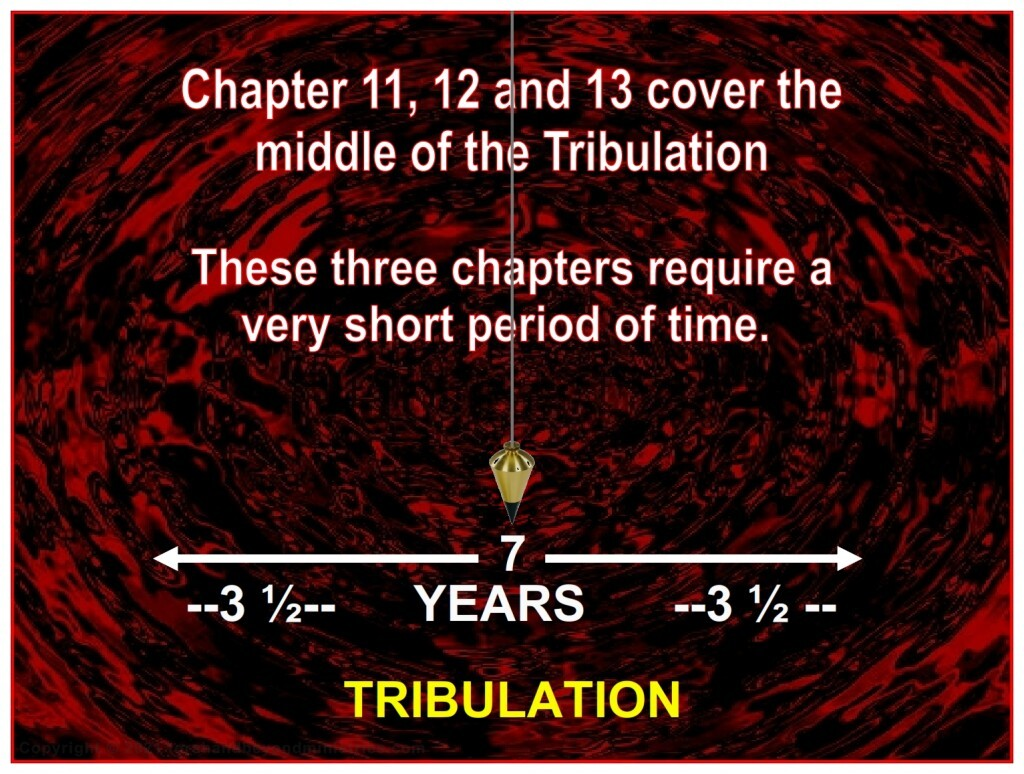 Chapter 11 through 13 of The Revelation cover a very short period of time.