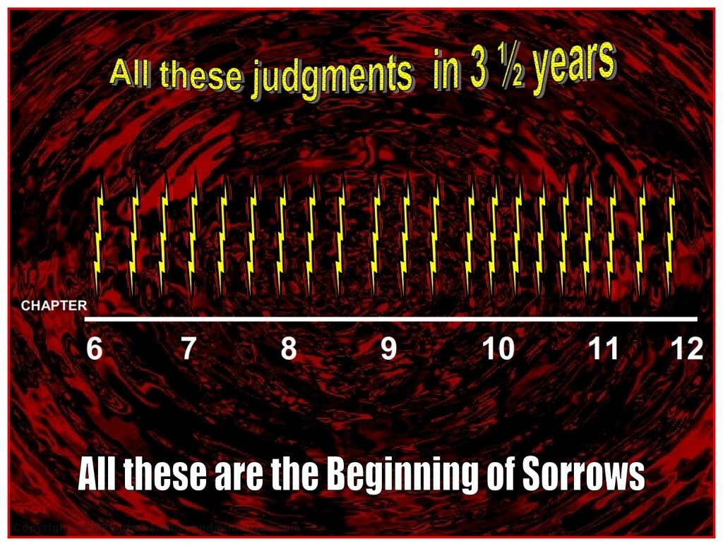 There is the possibility that there were 21 judgments in the first three and a half years of the first half of the Tribulation.