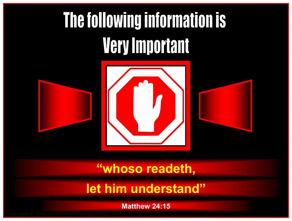 The following information about the Tribulation is very important.