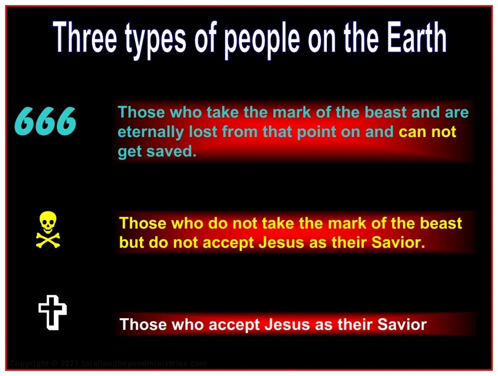 After the Abomination of Desolation many people can not get saved.