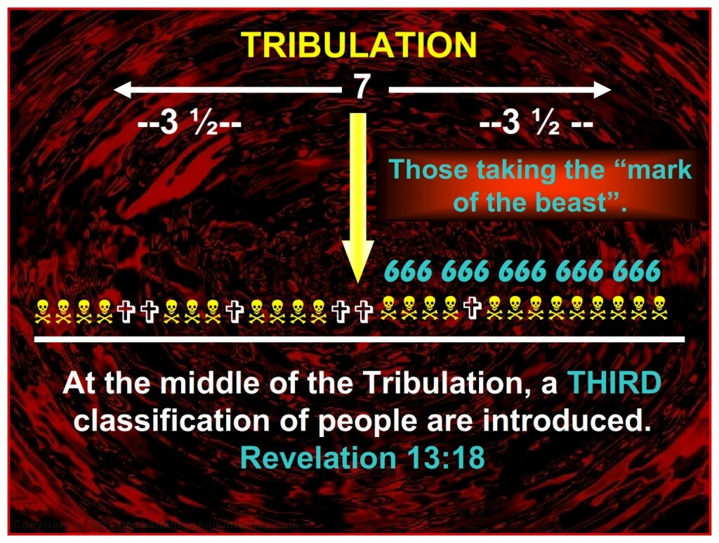 In the middle of the Tribulation a third classification of people are introduced, those who have taken the Mark of the Beast.