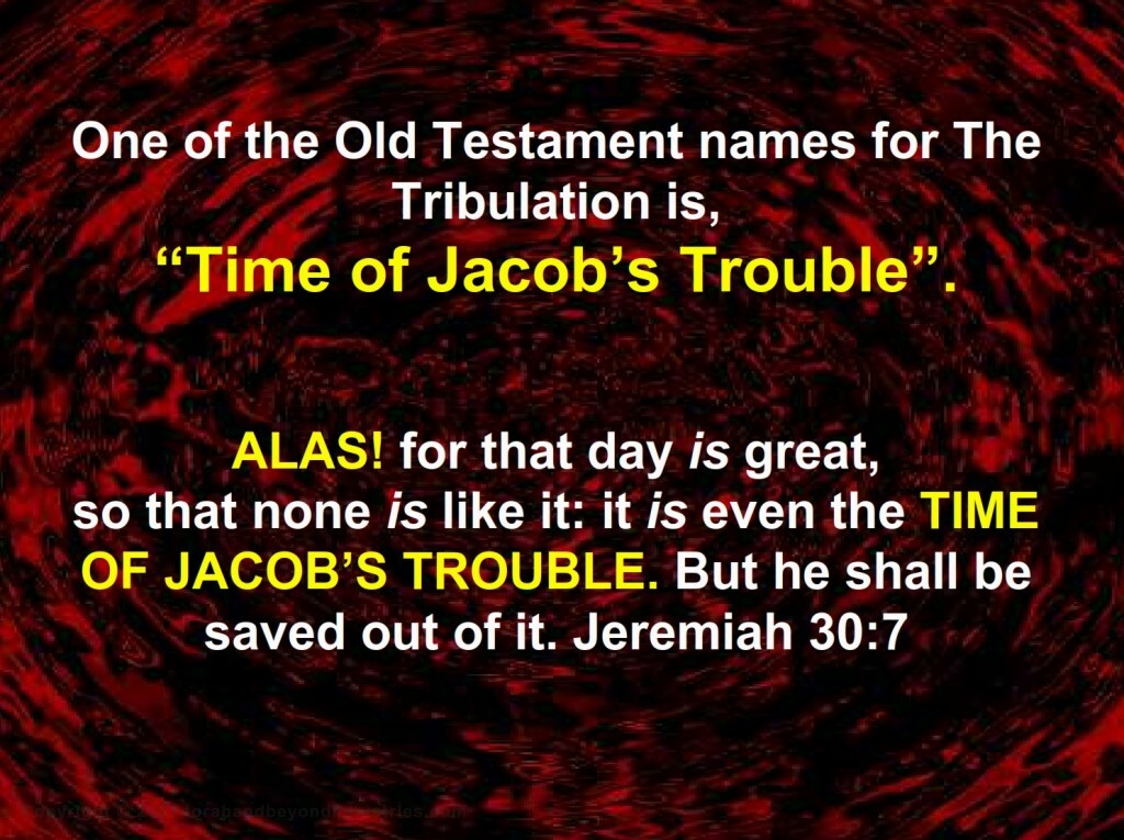 The Time of Jacob's Trouble and the Great Tribulation are the same, just different names for the same events.