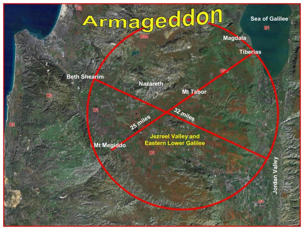 Armageddon, The battle of Har  (Hebrew for mountain) Megiddo  ( a small mountain on the South West side of the Valley of Jezreel).