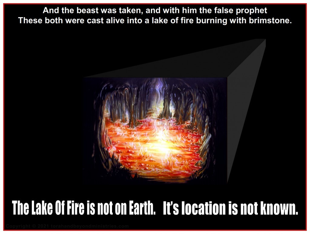 The location of the Lake of Fire is not known.
