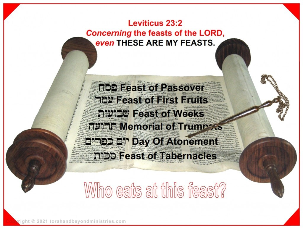 For all the Feasts of Leviticus chapter 23 there is something to eat. Who eats at this Feast?