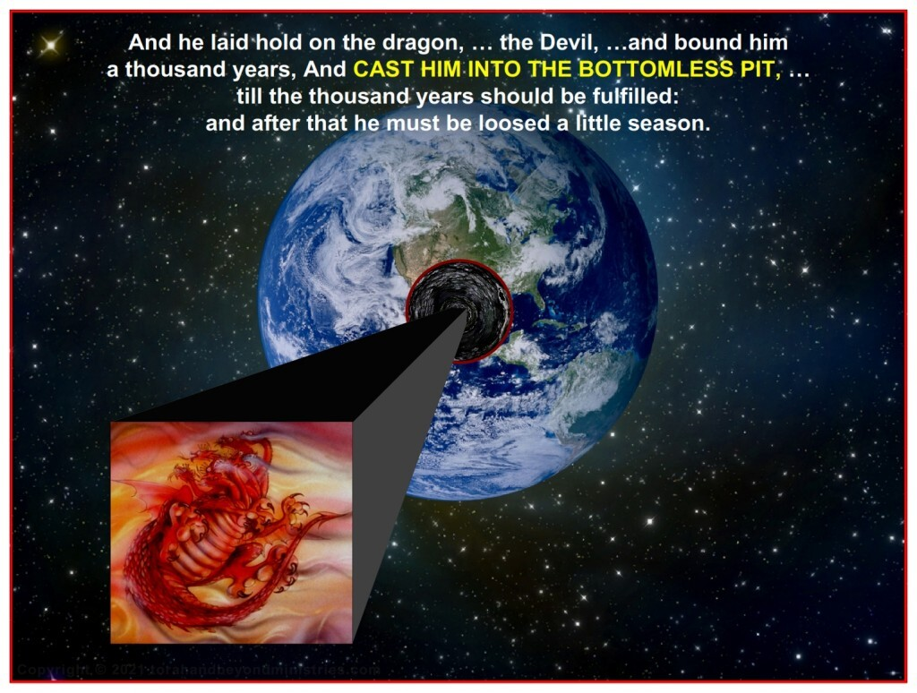 Satan is not allowed to influence the Earth for 1,000 years.