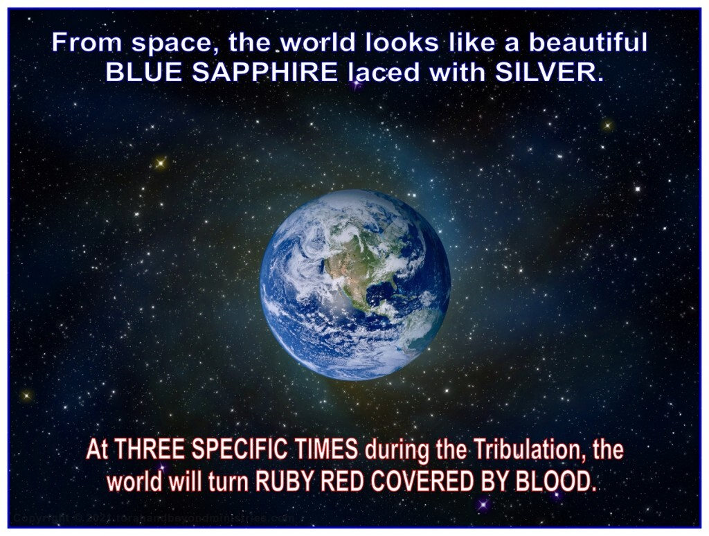 From space the Earth looks like a beautiful blue sapphire laced with silver.
