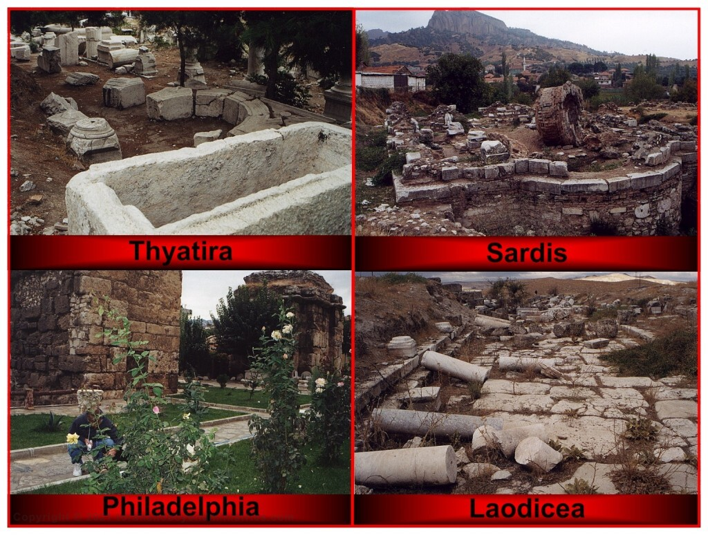 John wrote to 7 churches which are in Turkey. Today, most of the cities and all the church buildings are gone.