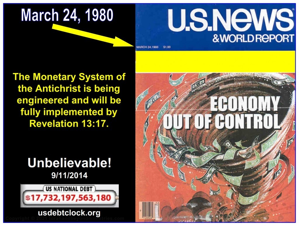 The Antichrist is engineering his monetary system which will require a mark on the hand or forehead.