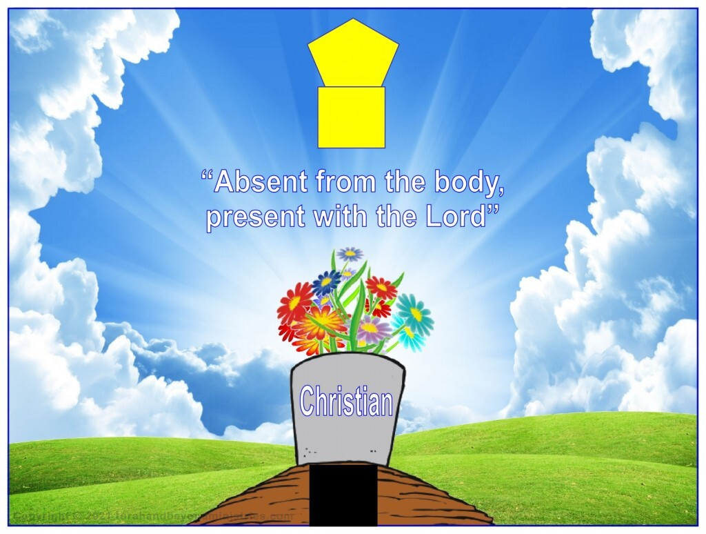 Absent from the body, present with the Lord.
