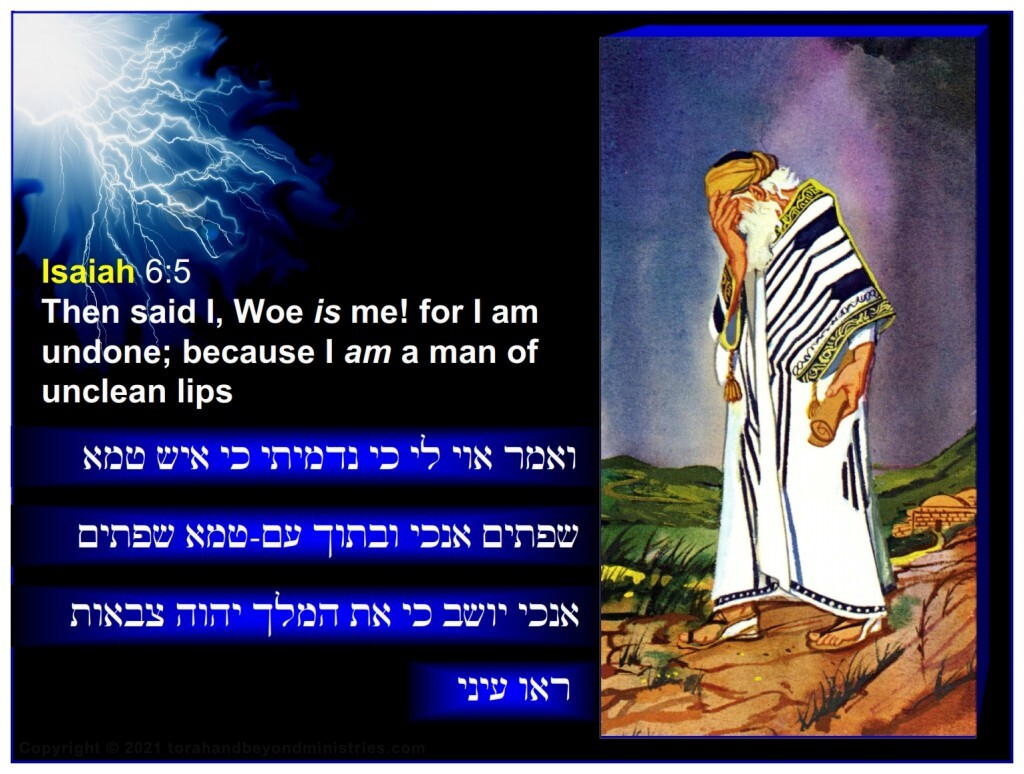 The great Prophet Isaiah saw his sinful self and said: Then said I, Woe is me! for I am undone; because I am a man of unclean lips.
