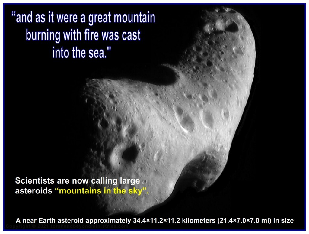 """Many in the scientific community are now calling large asteroids """"mountains in the sky""""."""