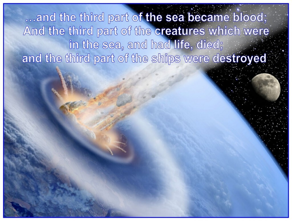 A large asteroid will hit planet Earth before the middle part of the seven year Tribulation.