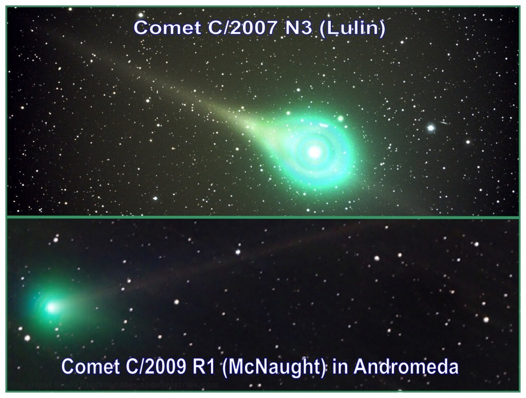 A large portion of a comet's nucleus contain cyanogen which burns a poisonous green gas. This will contaminate much of Earth's water.