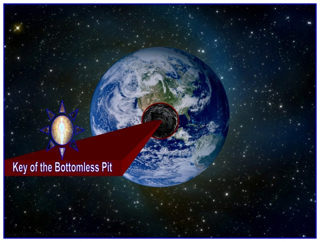 God sends some life-form to Earth to open the Bottomless Pit. The Scripture indicates that this bright object will be alive.