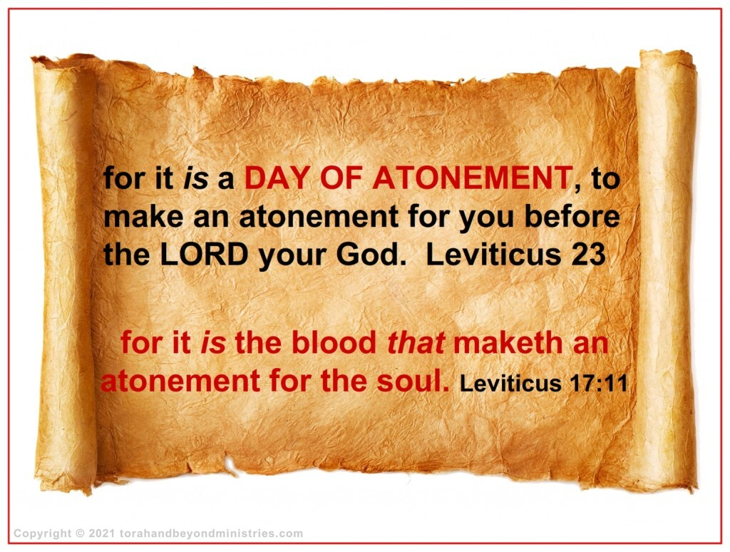 A blood payment is required for sin. The question is, whose blood will be used to make the atonement.