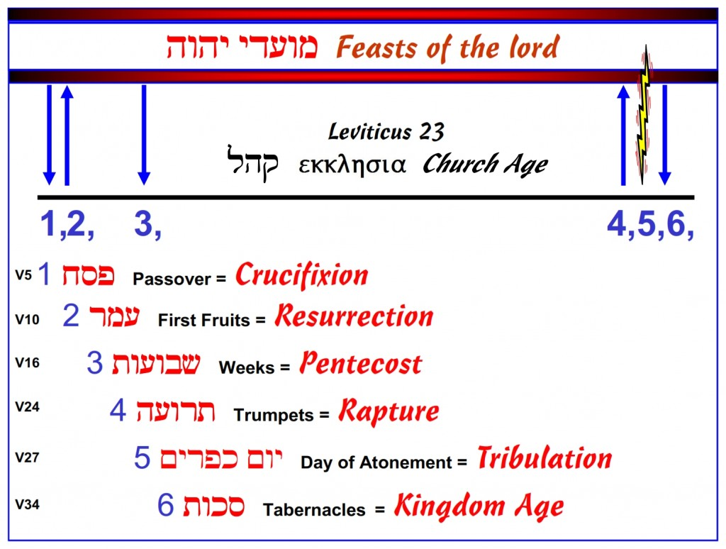 The Feasts of the Lord written in chronological order. English language Bible study
