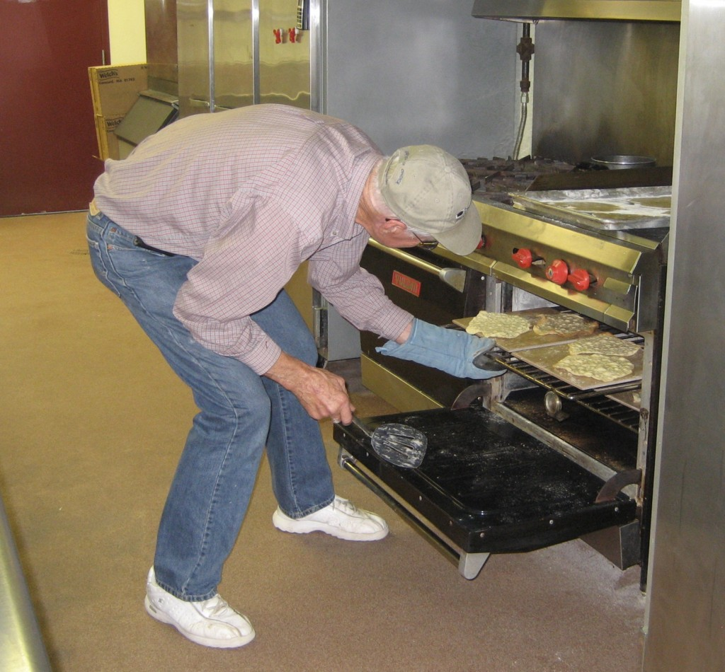 It is a full day's work to cook 250 pieces of unleavened bread unless several large ovens are used.