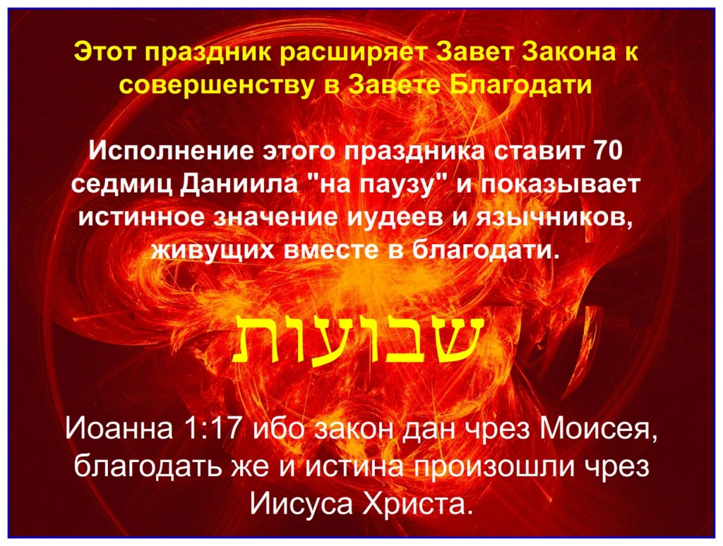 Russian language Bible study: The fulfillment of This feast expands the covenant of Law to become the Covenant of Grace