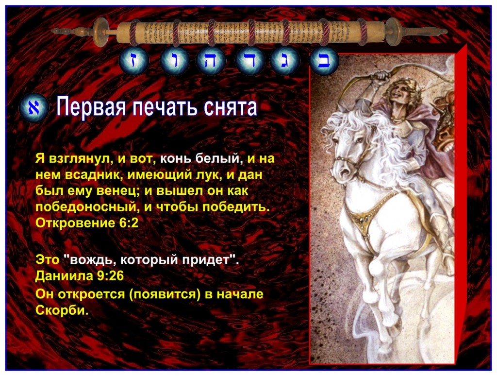 "The rider on the white horse will probably be the ""prince that shall come"". Daniel 9:26 He will be revealed at the beginning of the Tribulation."