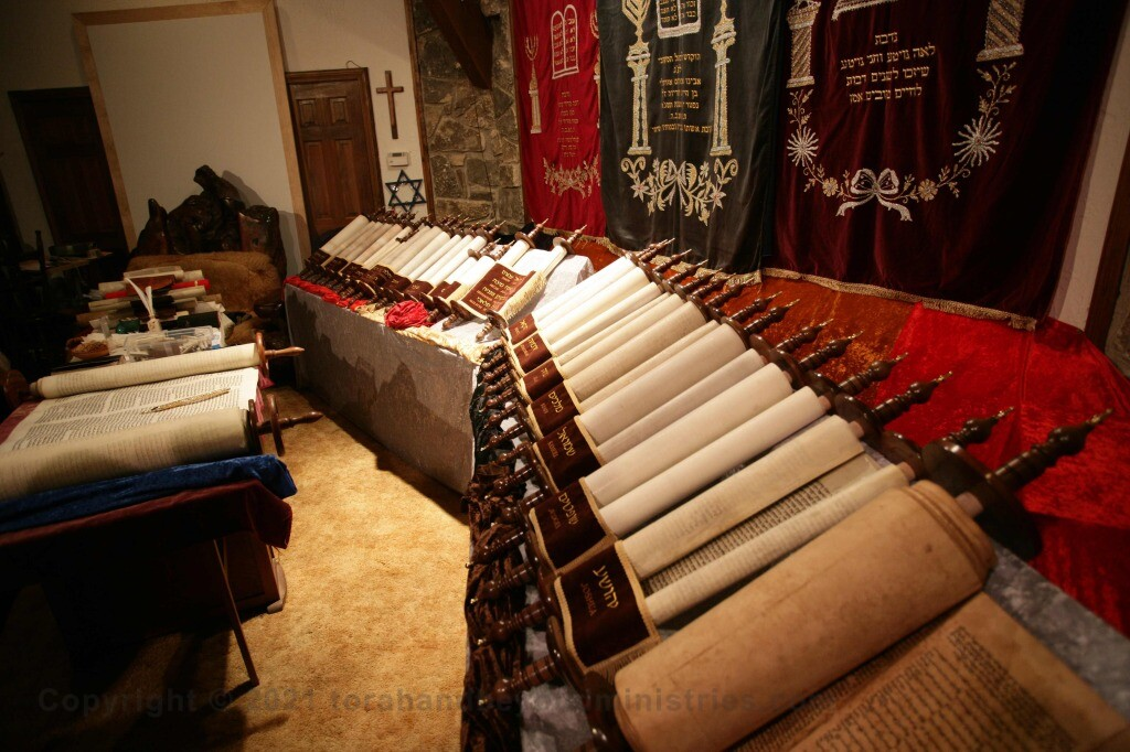 The 16 Scrolls of the complete Tanakh, Old Testament Scrolls on display in Glen Rose, Texas