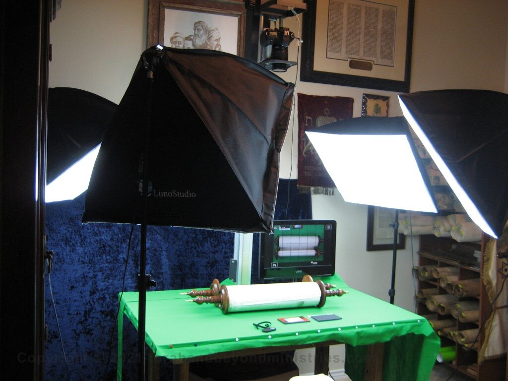 Photographing 16 Hebrew Scrolls of the Tanakh