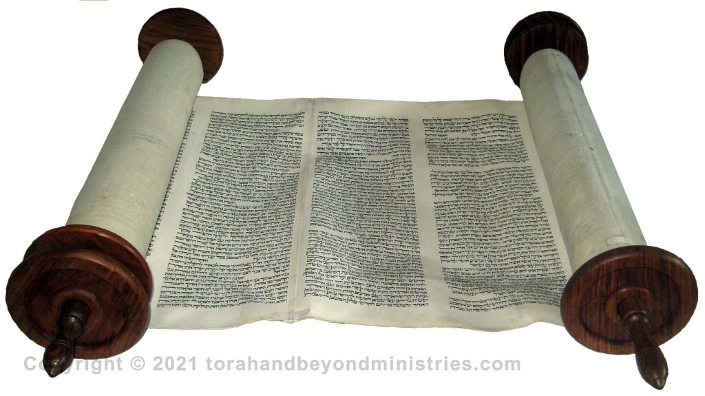 Hebrew Torah Scroll from Lithuania now in The Scriptorium in Katy, Texas.