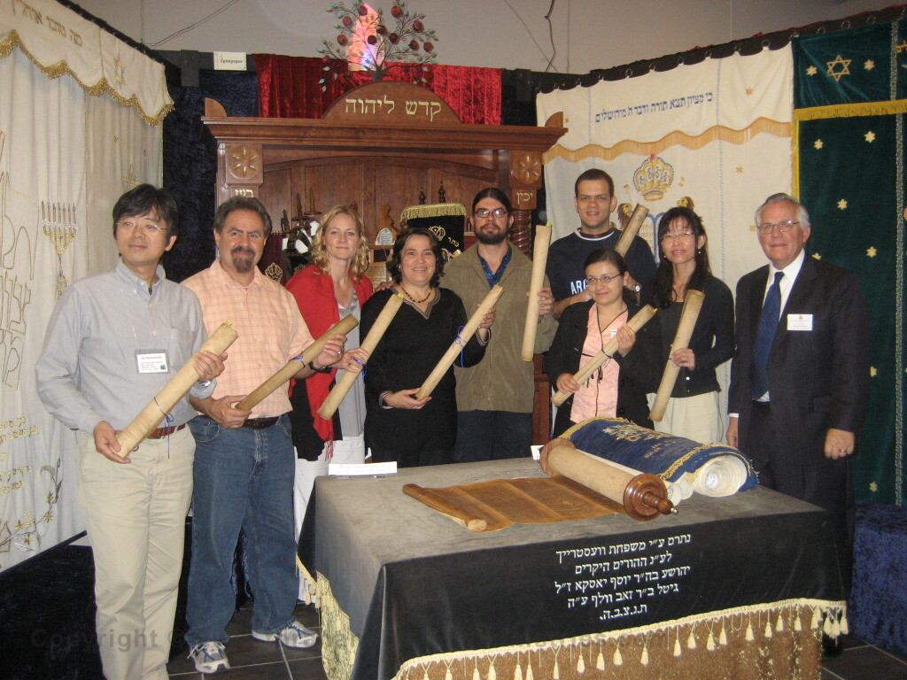 Wycliffe Bible Sign Language Translators from eight countries Examining Hebrew Scrolls
