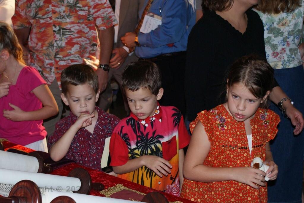 Precious - Children viewing Hebrew Scrolls in Dallas, Texas