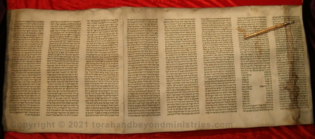 Authentic Hebrew Scroll of Ecclesiastes on public display