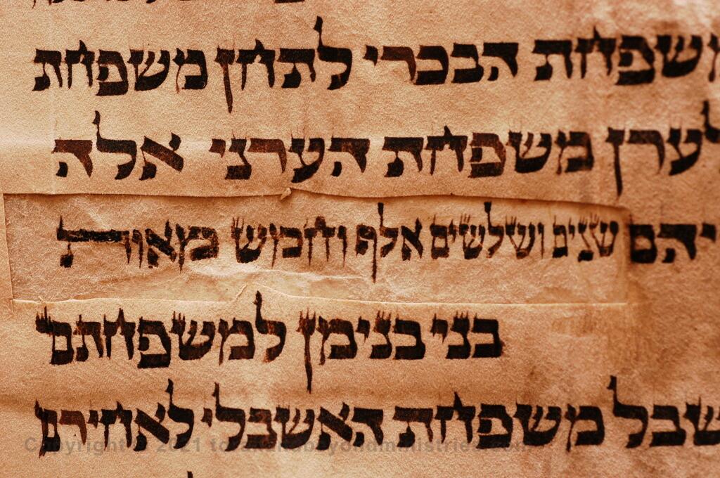 Repair on Torah Scroll Numbers 26:38