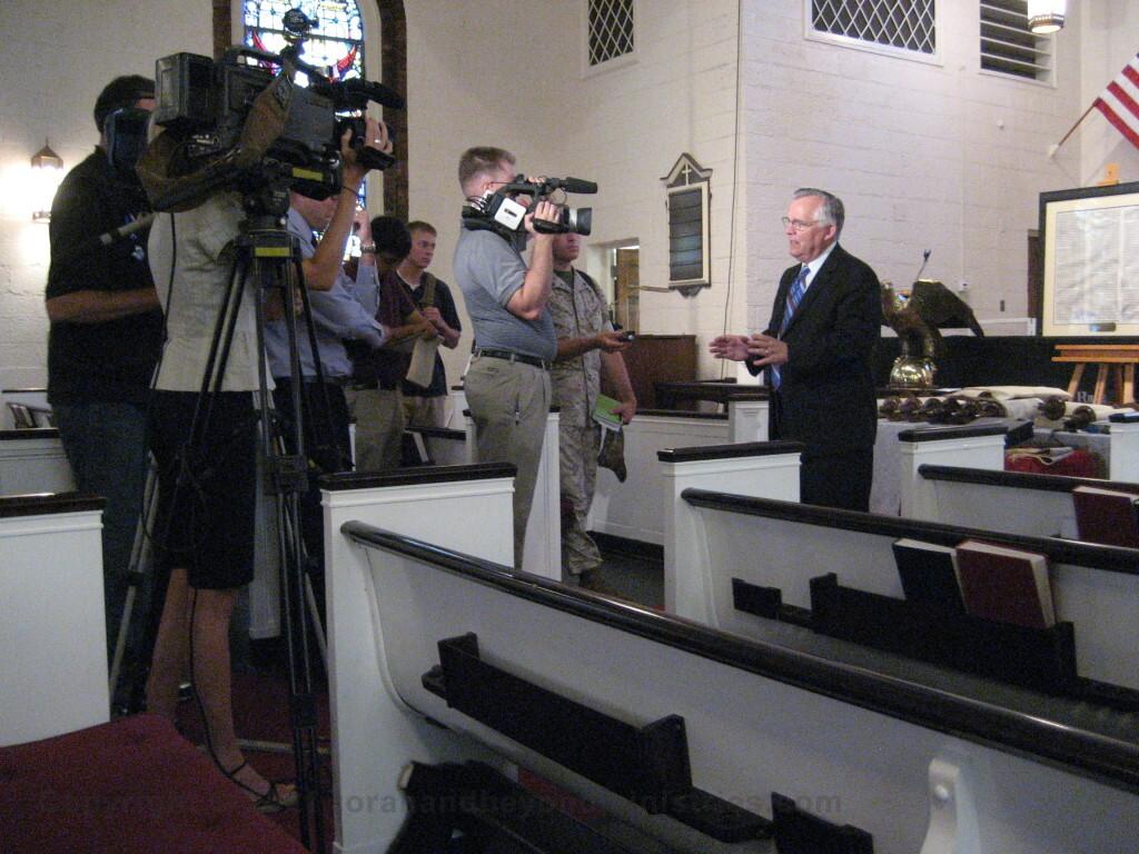 Hebrew Scroll Exhibit at Protestant Chapel Chapel Camp Lejeune Marine Base North Carolina