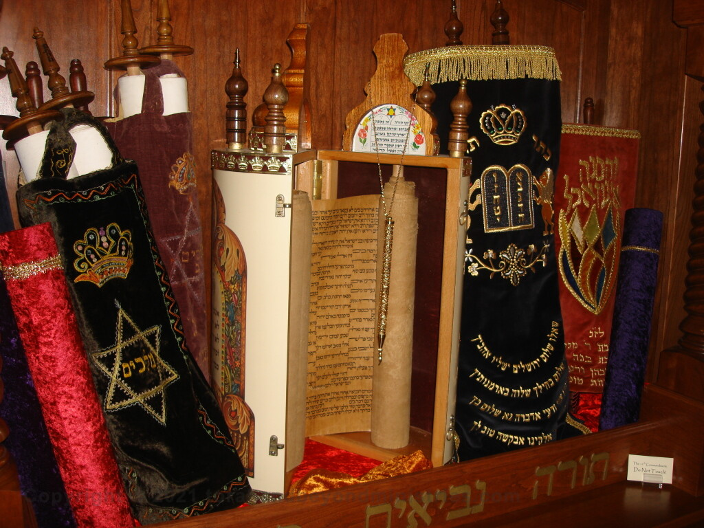 Ark containing Torah Scrolls, Scrolls of the Prophets and Writings shown in Dallas