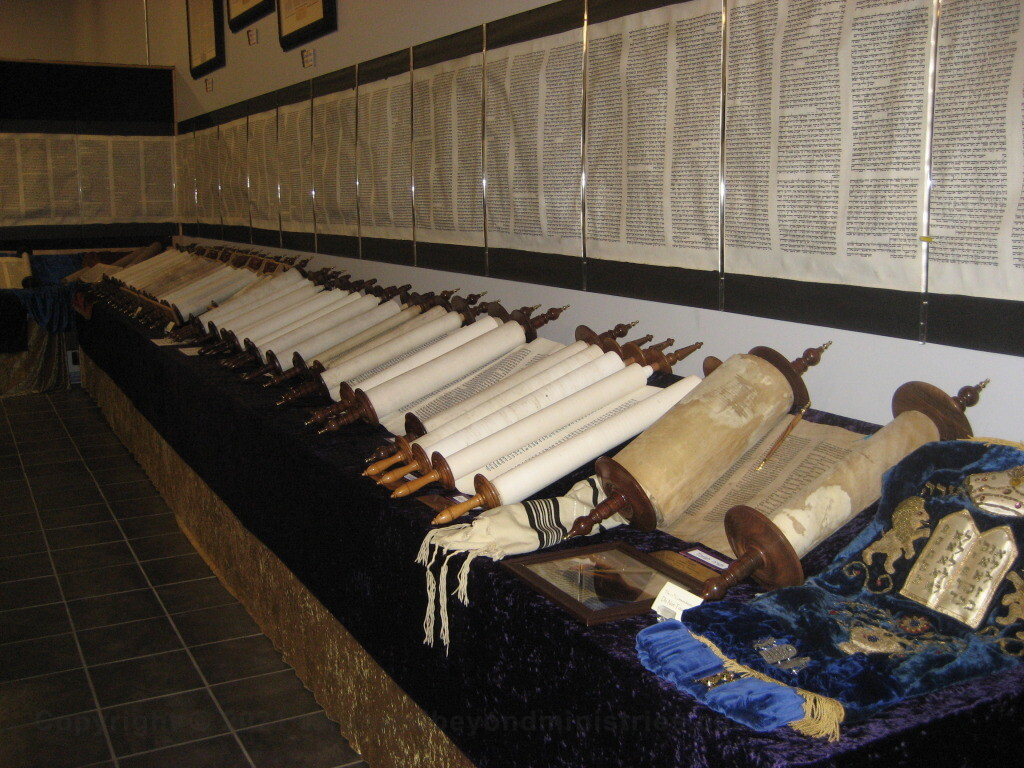 Display in Dallas, Texas full set of the Tanakh, Hebrew Old Testament Scrolls