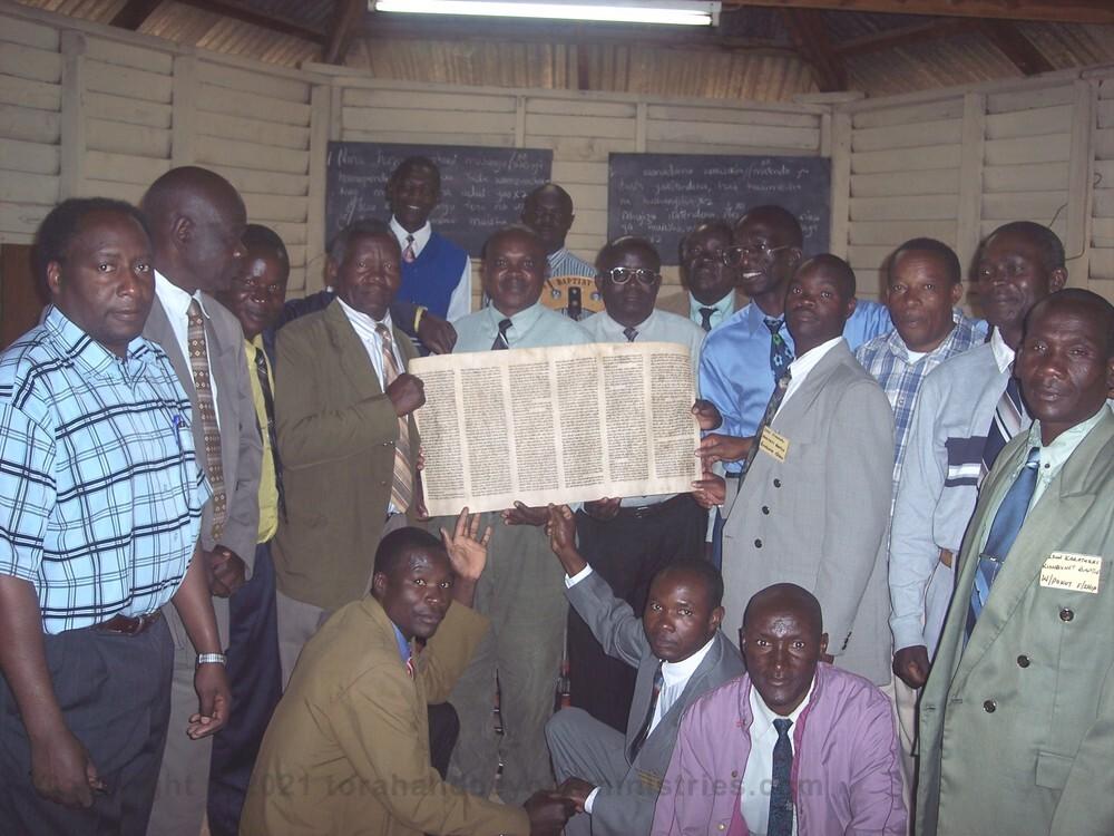 Pastors - West Kenya, Africa receive Torah sheet