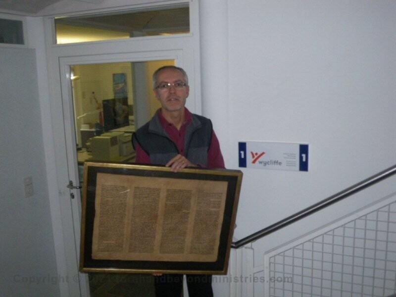 Torah sheet Wycliffe Bible Translator Switzerland