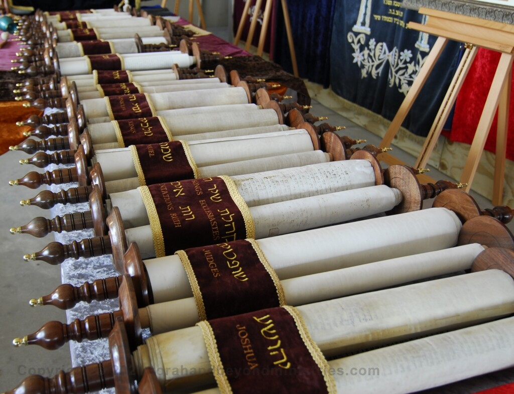 Full set of Hebrew Scrolls, Tanakh, with new rollers