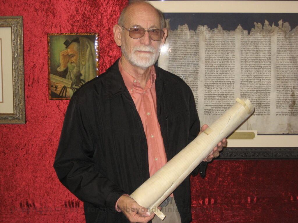 Donating Torah sheet to Wycliffe Bible Translator Zambia