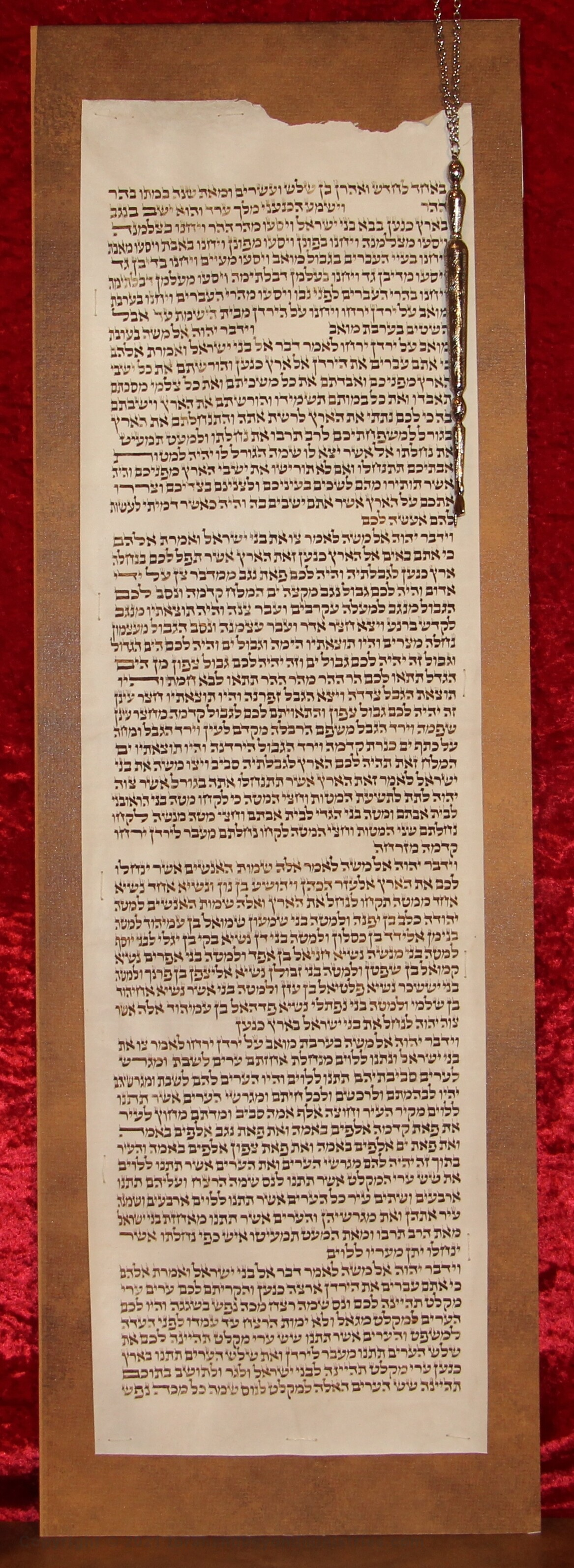 This column contains the exact boundaries for the land promised to Abram and His descendants through Isaac and Jacob.