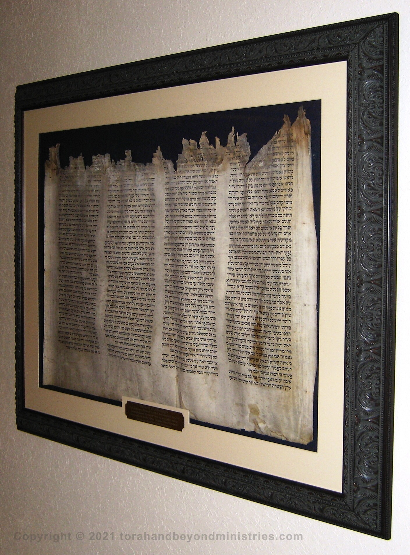 Complete Scroll of Lamentations damaged in the Holocaust