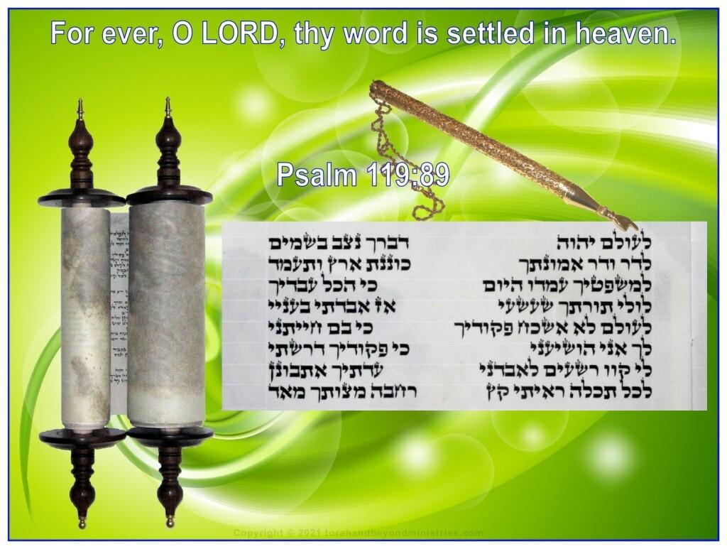 Authentic Scroll of Psalms written in Israel