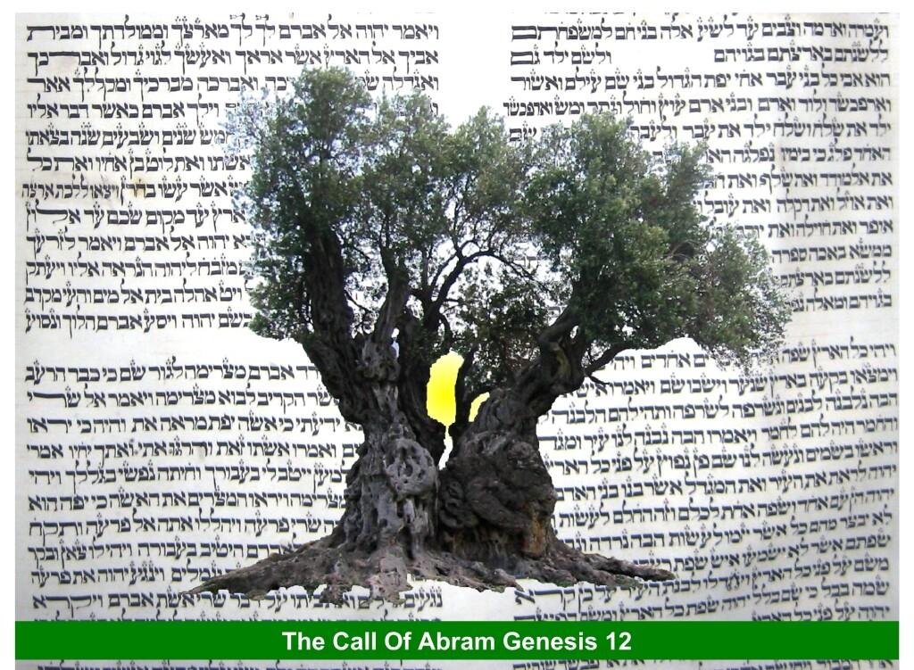 call of Abram Hebrew Jewish clip art