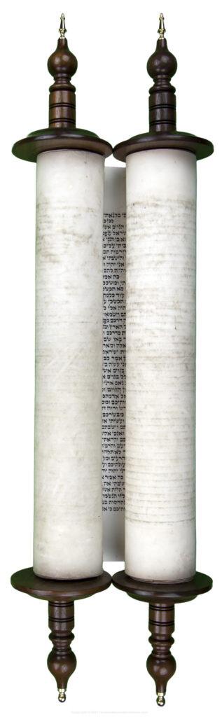 Hebrew Scroll of Ezekiel written in Lithuania