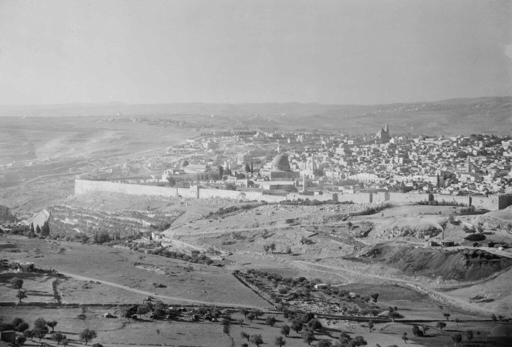 Jerusalem around 1900 to 1920 Arial photo